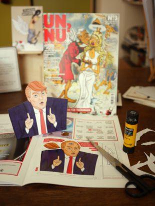 Bastelbogen Donald Trump